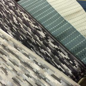 織りたてほやほや、夏向けの帯。