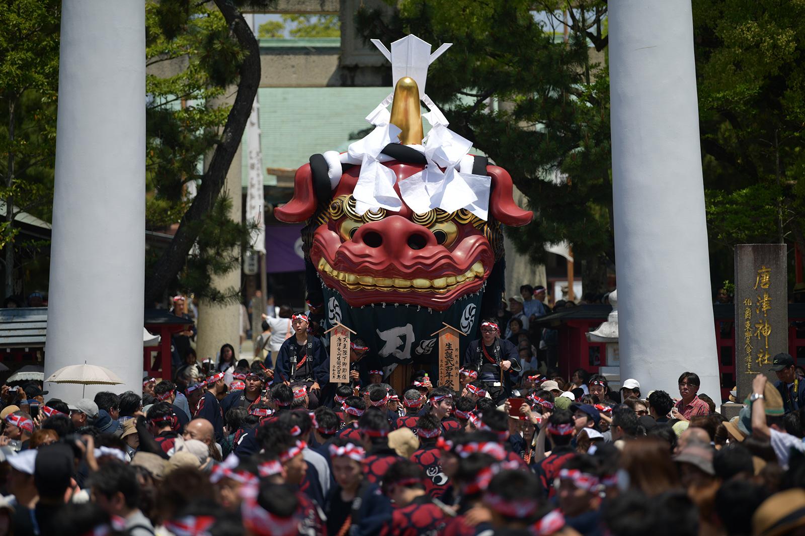 一番曳山刀町赤獅子生誕弐百年祭