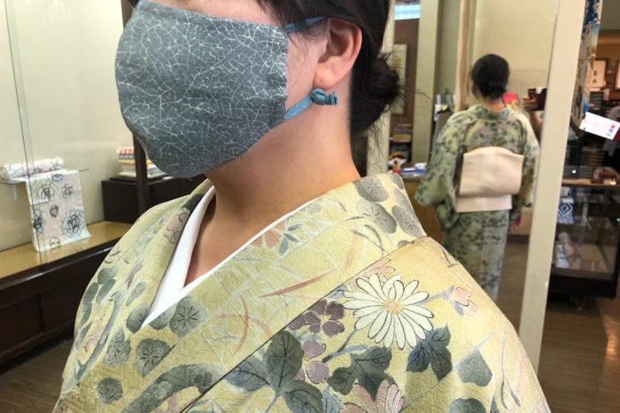 お客様から頂いた手作りマスク