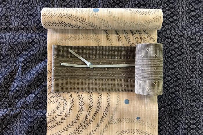 新江戸染め浴衣「流れ柳」×首里花織