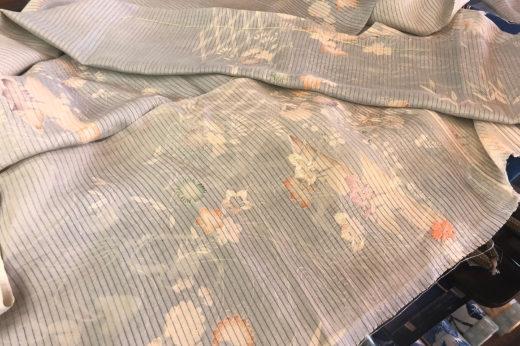 二部式の帯に仕立て替える絽の帯