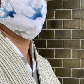 綿麻手拭『風つむぎ』マスク!