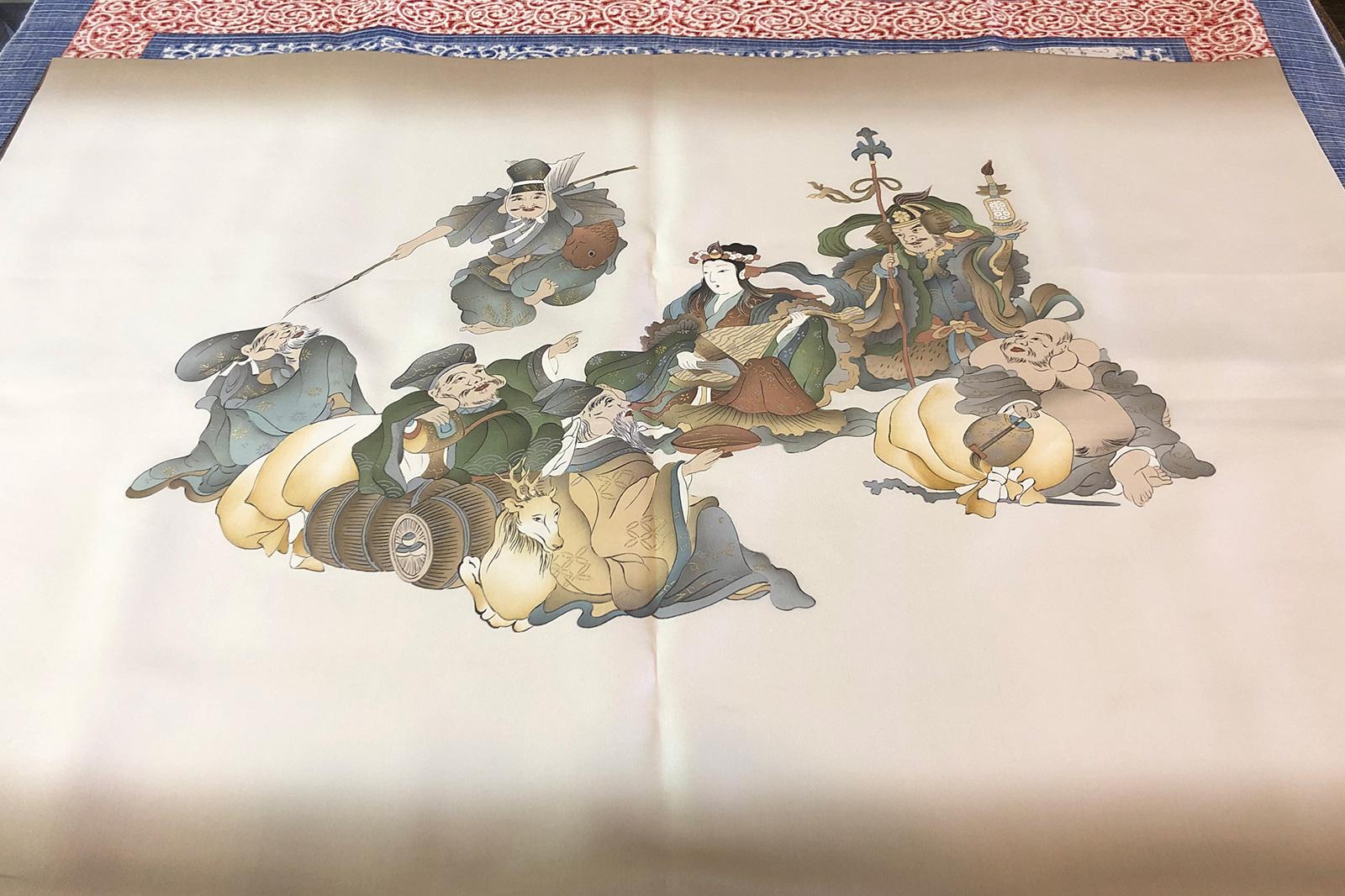 唐津くんち長法被の額裏に選ばれた「七福神」