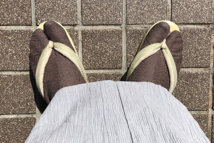 23.5cmのお客様の草履にすーっと入った足。