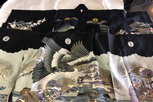 家紋を入れ替える、男前の一ツ身と羽織。