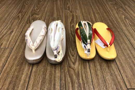 唐津はきもん祭り3日目は、鼻緒の挿げ替え2足のみ。