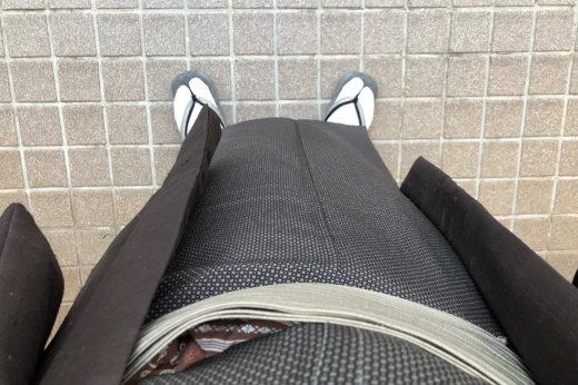 江戸小紋には白足袋。