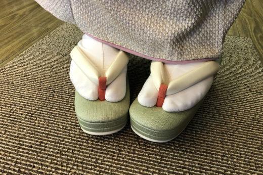年末に発注していた岩佐の草履がお嫁入り。