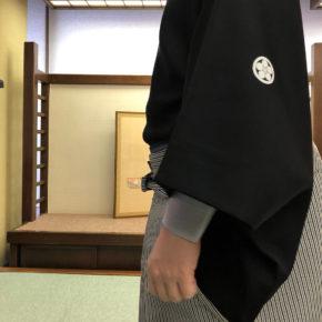 黒紋付羽織袴コース修了!