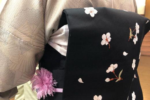 夜桜を愛でた、なごや帯。