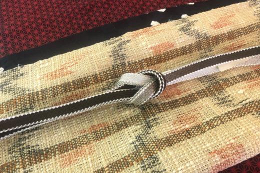 紙布の帯と帯〆帯揚