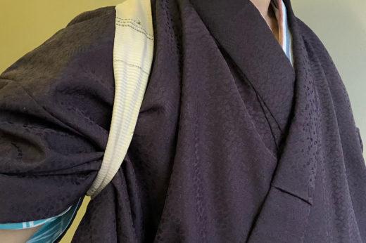 ポリエステルの単衣のきもの。
