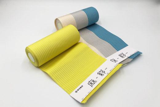 追加で御注文頂いた博多織の半巾帯「麻絹」シリーズ。
