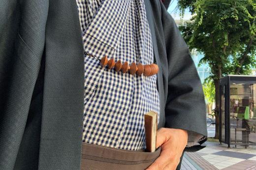 松坂木綿に紗の羽織。