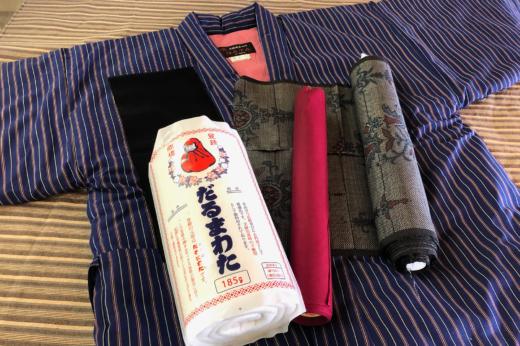 綿入袢纏に生まれ変わる大島紬