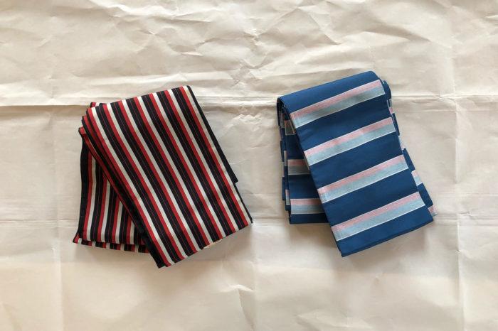 箪笥の整理代行業で見つけた半巾帯2本