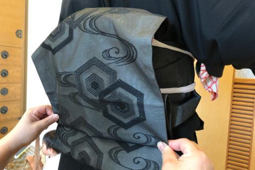 紗の黒共なごや帯