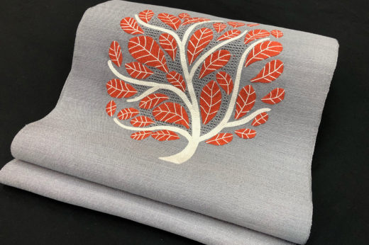 ベトナム刺繍のなごや帯