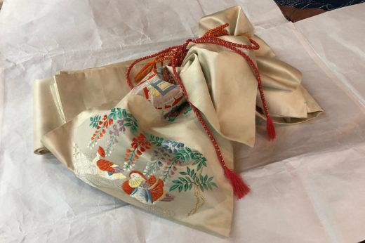 袋帯を七五三詣り用に仕立て替える